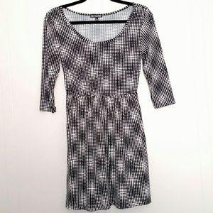 Bebop - Black & White 3/4 Sleeve Polka Dot Dress